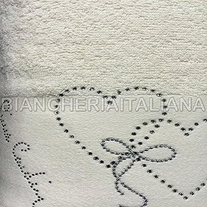 Pierre Cardin - Juego toalla y toalla de invitado, modelo Heard, crudo con rayas