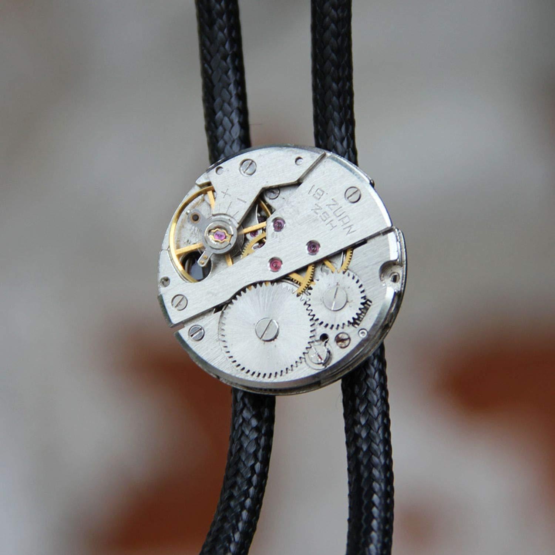 JIA-WALK Designer Steam Punk Tie for Men Personality Neck Tie Fashion Accessory Silver Gray