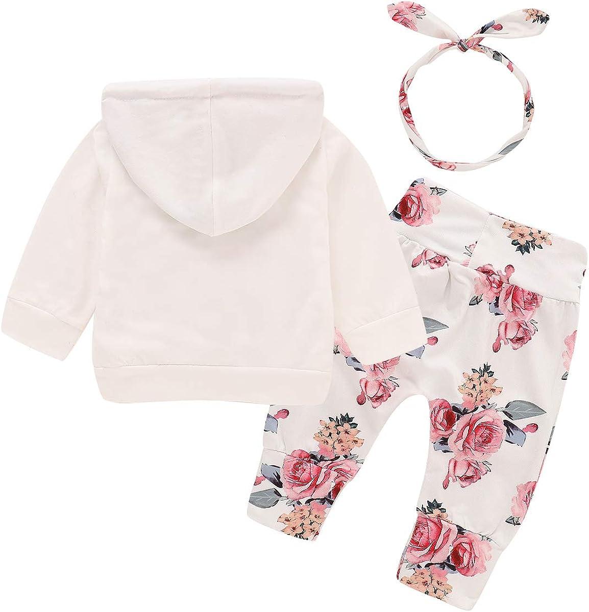 Pantalones Diadema para ni/ñas reci/én Nacidos greatmtx Ropa Beb/é ni/ña Floral Sudadera con Capucha Tops