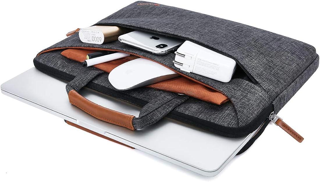 DOMISO Laptop Sleeve Shoulder Bag Water-Resistant Protective Messenger Bag Business Briefcase Handbag