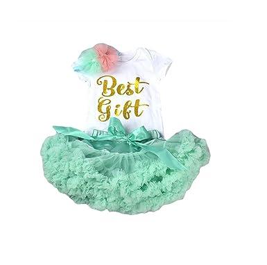 a1b88cc33 BabyPreg Infant Baby Princess Tutu Skirt First Birthday Outfit Girl: Amazon. co.uk: Clothing