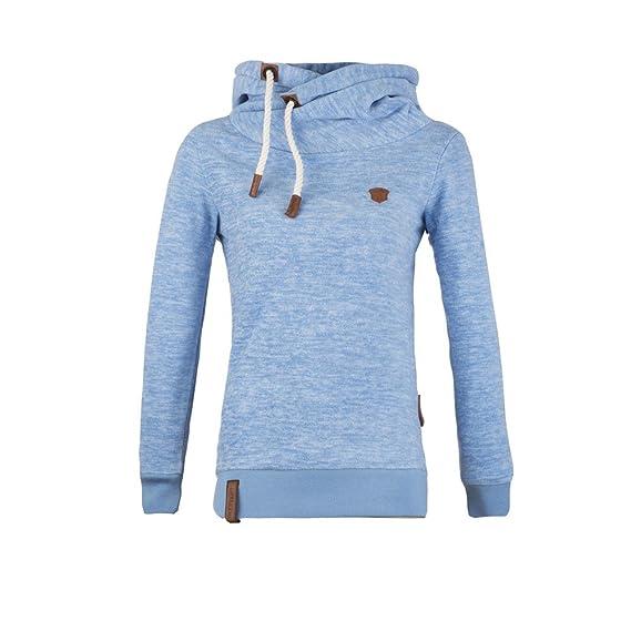 NAKETANO Lange XI Kapuzenpullover für Damen Blau