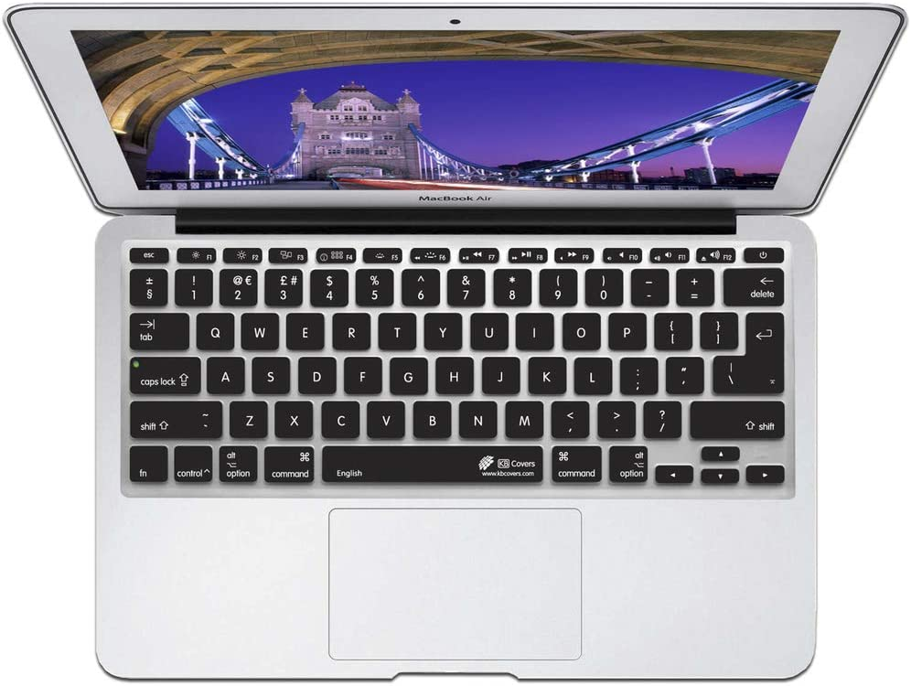 //Retina /& Wireless KB Covers English Keyboard Cover for MacBook//Air 13//Pro ENG-M-ISO-BLACK 2008+