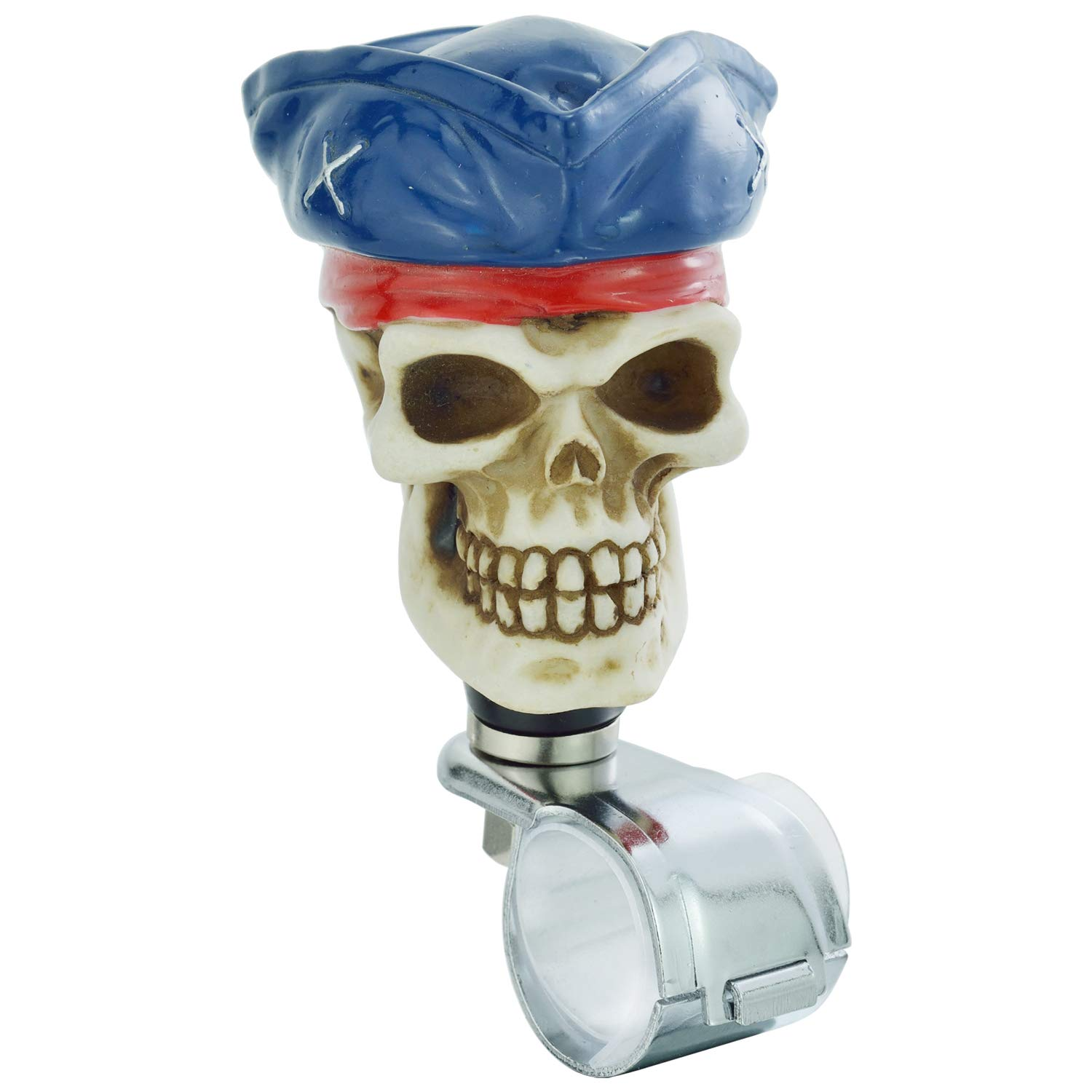 Car Steering Wheel Grip Handle Knob with Tricorne Fit Most Manual Automatic Vehicles Thruifo Skull Suicide Turning Spinner Blue
