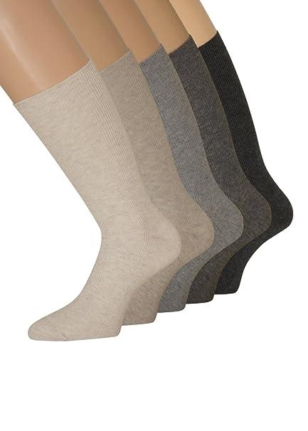 Señor Calcetines sin goma Calcetines sin goma cintura sin cordón elástico para hombre 43 - 46 39 - 42 - 47 - 50, 10 pares: Amazon.es: Ropa y accesorios