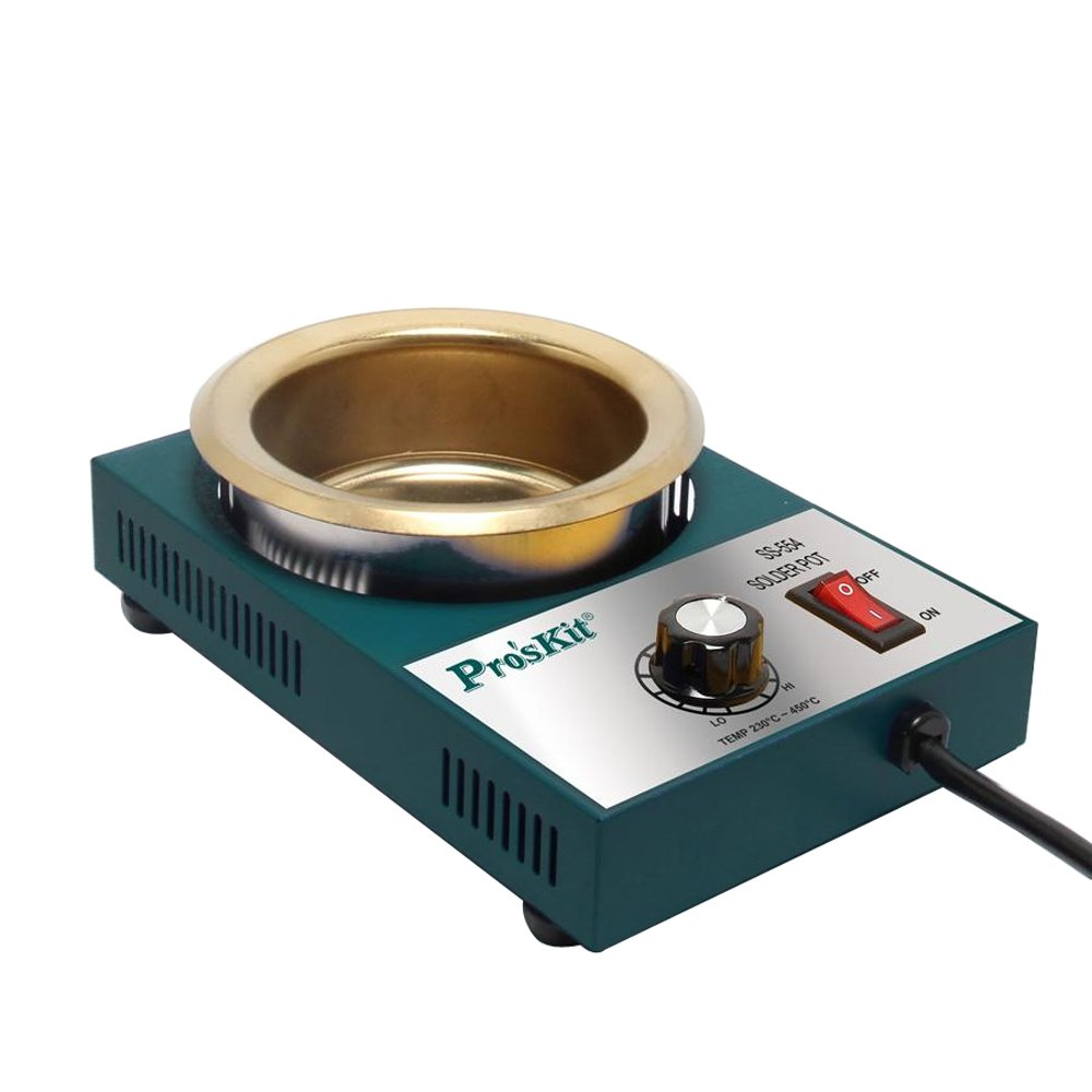 Pro39;skit SS-554H 300W Temperature Controlled Soldering Pot 2.2kg Melting Flux Tin Pot Tin Cans(220V) by Pro'skit SS-554H High Quality 300W Temperature Controlled Soldering Pot 2.2kg Melting Flux Tin