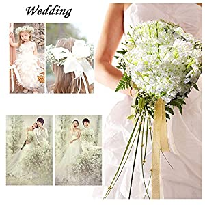 12pcs Artificial flowers Gypsophila Baby's Breath Bouquet Silk Baby Breath Flowers for Home Wedding Party Decorations Pretty Flowers 4