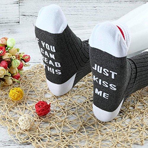 Women Men Unisex Letters Printed Socks Cotton Casual Low Cut Ankle Socks ,kaifongfu (free size, Dark Gray)