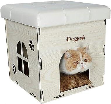 XAJGW Casa del Gato y Mesa Auxiliar   40 x 37x 37 cm   Mesilla de