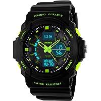 Reloj Niño Digital,Reloj Digital-Analogico LED Verdel,Water Resistant,Deportivo