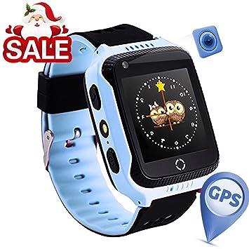 Reloj Infantil Smartwatch para Niños Con llamada Toque HD Pantalla SOS GPS Despertador Compatible con Android