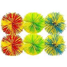 6-Pack of Monkey Stringy Balls (Latex-Free, BPA/Phthalate-Free) - Great Fidget / Stress / Sensory Toy