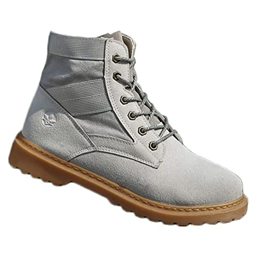 Aiweijia Zapatillas de Vestir de Costura para Hombres Moda Casual Zapatos Altos al Aire Libre con Cordones Botas Transpirables: Amazon.es: Zapatos y ...