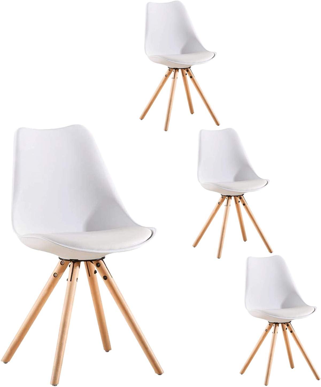 LOVEMYHOUSE Pack de 4 sillas de Comedor Oficina Sillas con Madera ...