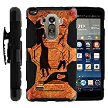 LG Stylo Case, Belt Clip, Full Protection Hybrid Armor Reloaded w/ Kickstand - Artistic Tribal Patterns - for LG G Stylo, G4 Stylus LS770, H631, MS631 by MINITURTLE - Cave Drawings