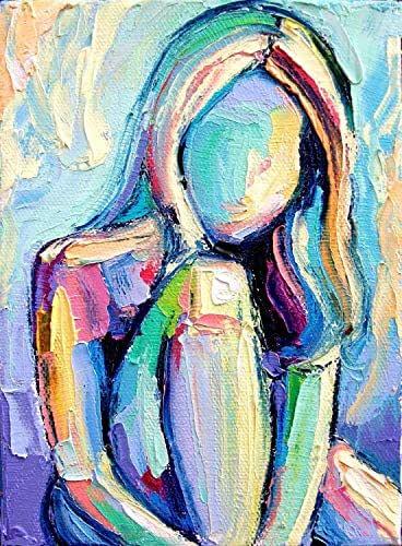 Figure Painting Nude Artwork Woman Female Art by FairyDrop