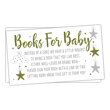Amazon 50 twinkle little star books for baby shower request 50 twinkle little star books for baby shower request cards invitation inserts filmwisefo