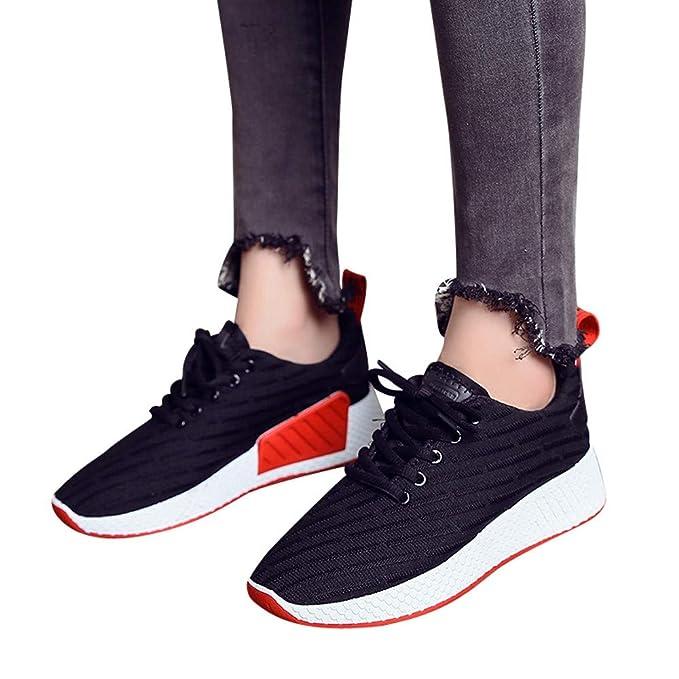 JiaMeng Zapatillas Ligeras Casuales Zapatillas de Malla Transpirables Zapatos para Correr al Aire Libre para Caminar Running para Mujer Zapatillas: ...