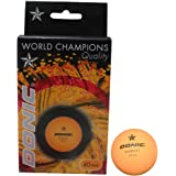 DONIC 1 Star Table Tennis Ball (Pack of 6) (Orange)