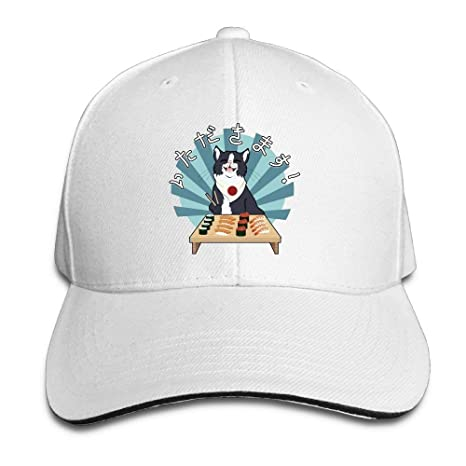 Aeykis Cute Cat Eat Shushi Cap Unisex Low Profile Cotton Hat ...