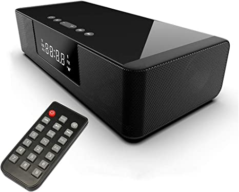 CHARGER DOCK Altavoz Bluetooth inalámbrico/estéreo Barra de Sonido de Cine en casa TV Altavoces de Sonido Envolvente con Altavoces de Control Remoto para tu teléfono de Audio de TV TF: Amazon.es: Deportes