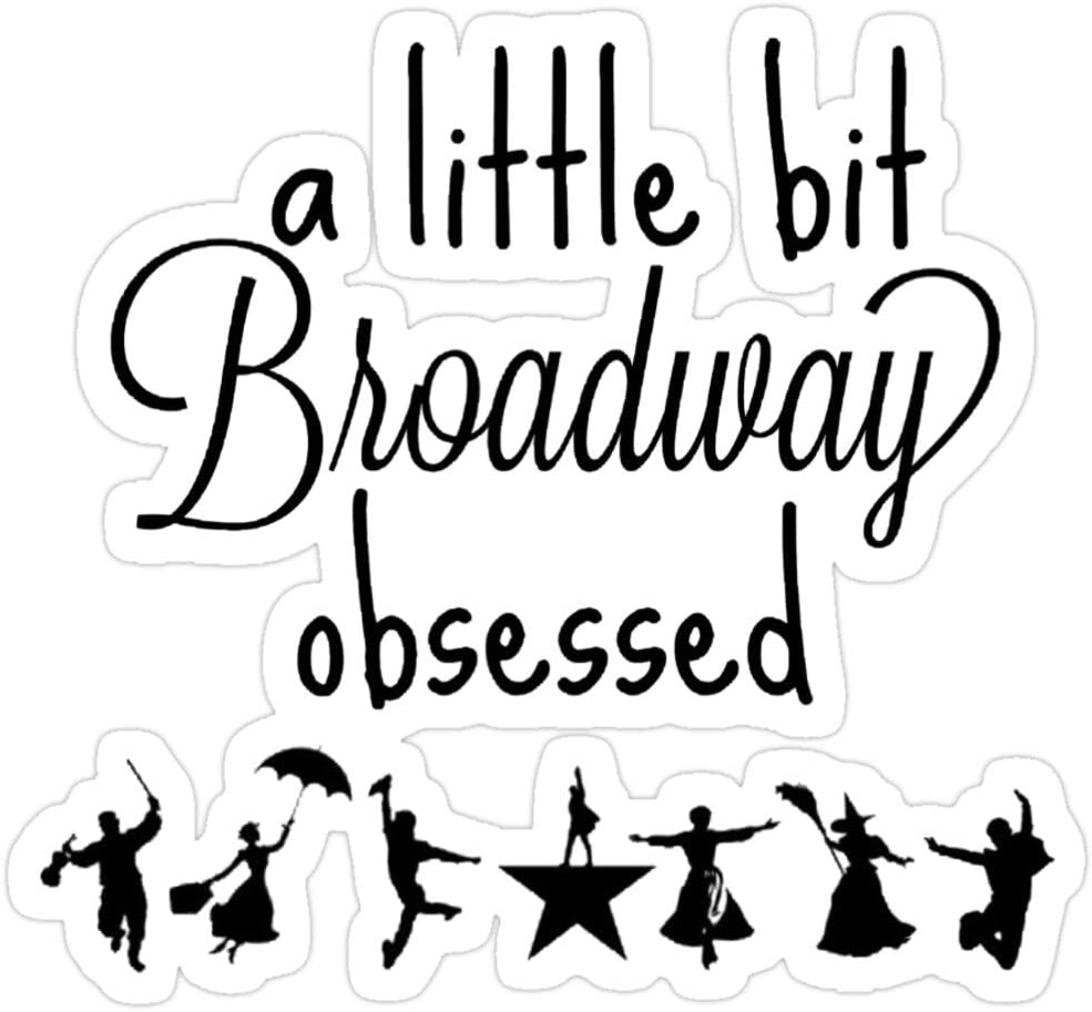 Andrews Mall A Little bit Broadway Obsessed Stickers (3 Pcs/Pack)