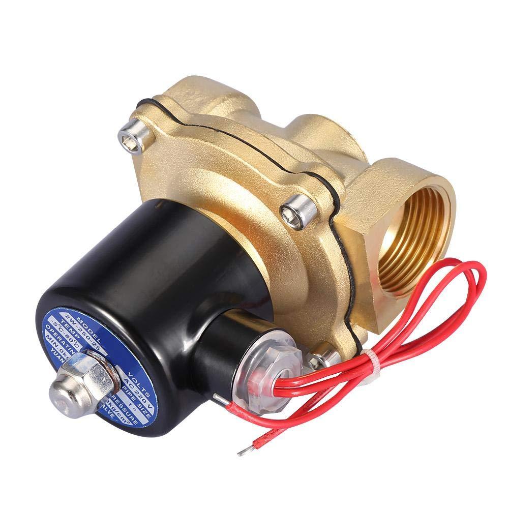 elettrovalvola a solenoide elettrica bidirezionale DN25 da 1 pollice 220VAC normalmente chiusa per riparazione elettrica domestica Elettrovalvola NC
