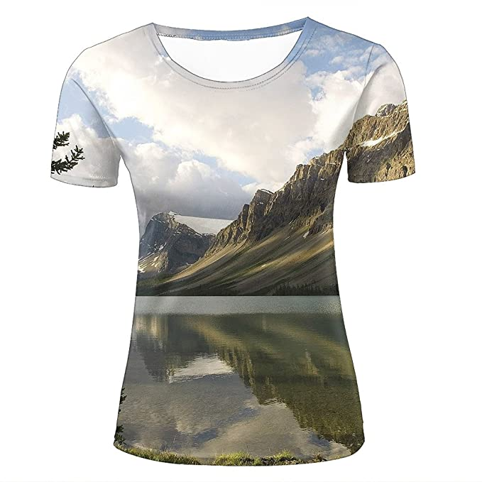 miao shop 3D Print Womens Tee Shirts Amazing Lake Sunlight Graphics Short  Sleeve Fashion Couple 4b33352c47