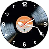 Relógio De Parede Beek Disco De Vinil Laranja Beek Geek's Stuff Preto
