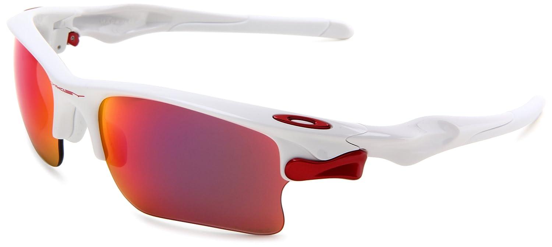 Oakley Herren Sonnenbrille Fast Jacket XL, polished white/oored ...