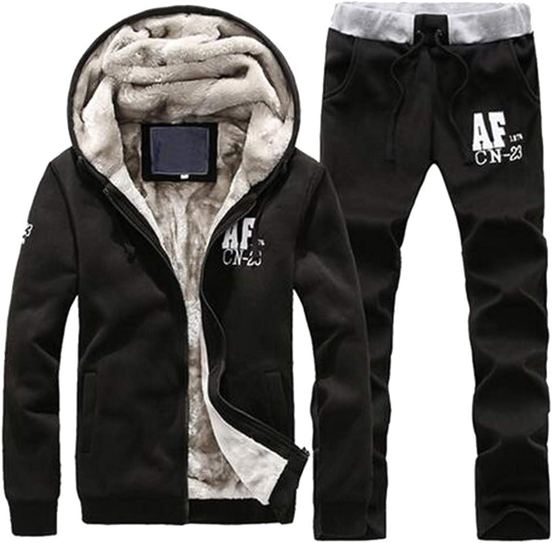 Jotebriyo Mens Hooded Coat Jogger Pants 2 Piece Outfits 3D Print Sweatsuits Tracksuits Sets