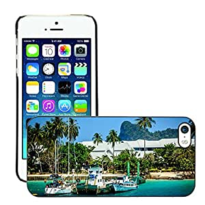 Print Motif Coque de protection Case Cover // M00153699 Mar azul del acantilado del océano Agua // Apple iPhone 5 5S 5G
