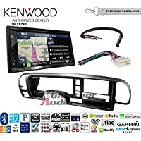 Volunteer Audio Kenwood DNX574S Double Din Radio Install Kit with GPS Navigation Apple CarPlay Android Auto Fits 1995-1999 Suburban, 1995-1999 Tahoe