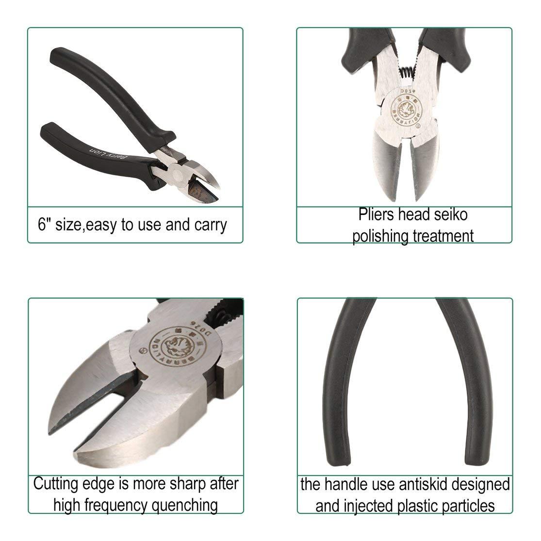 BERRYLION 6 pouces en alliage de nickel fil /électrique c/âble pince /à d/énuder Pinces coupantes c/ôt/é coupe Snips pince affleurante Nipper outil