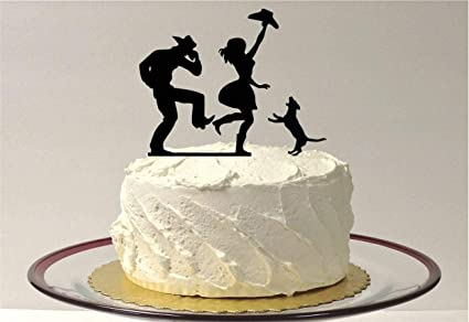 Amazon Com Liz66ward Cowboy And Cowgirl Wedding Cake Toppers With