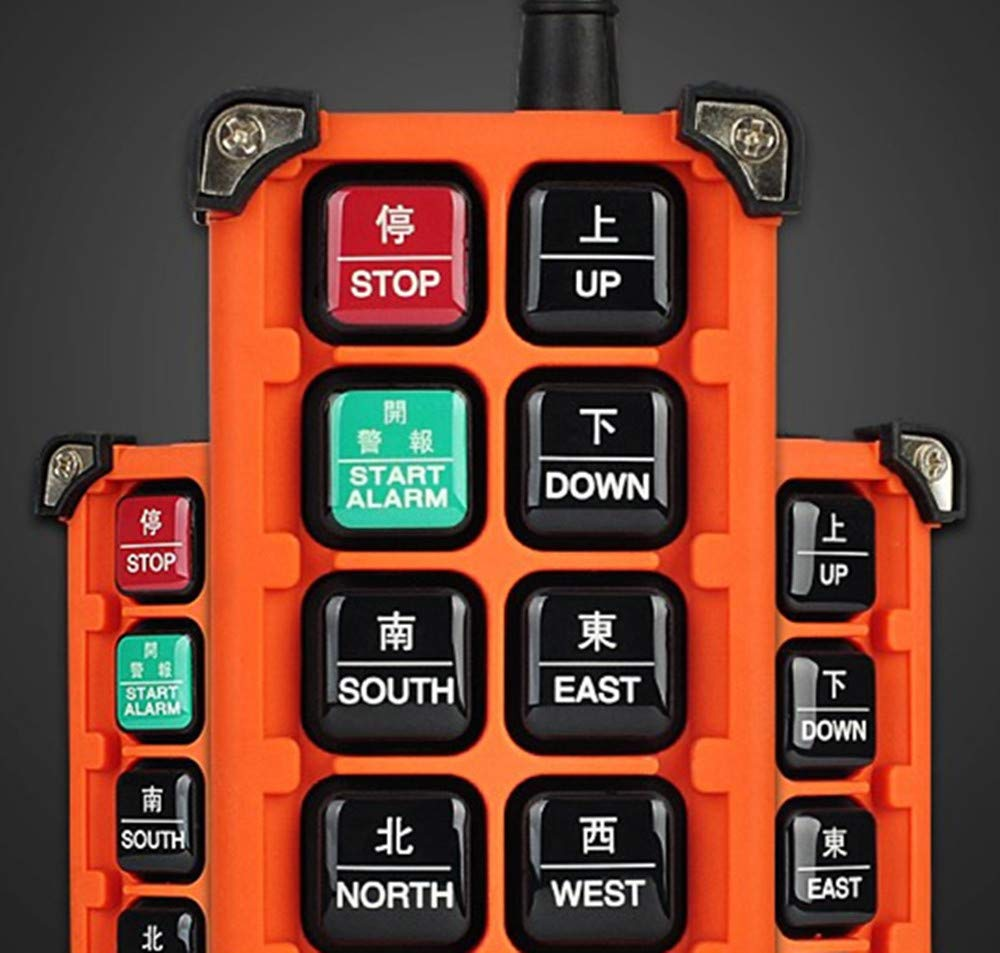 A Transmitter + 12V Receiver NEWTRY 8 Buttons Wireless Crane Remote Control 12V Industrial Channel Electric Lift Hoist Radio Switch Transmitter Receiver