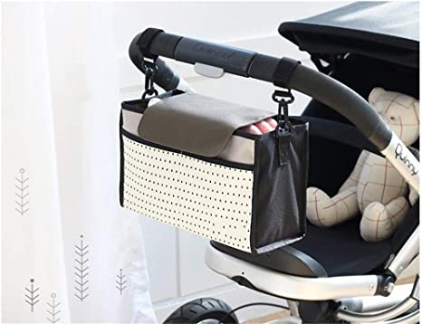 Nexlook Cochecito de beb/é Bolsas Organizador Carriage Pram Carrito Mummy Infantil Frasco Bolsas Agua Blanco Bottle Pa/ñal Bolsa