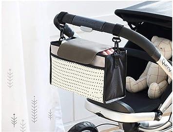 Nexlook Cochecito de bebé Bolsas Organizador Carriage Pram Carrito Mummy Infantil Frasco Bolsas Agua Blanco Bottle