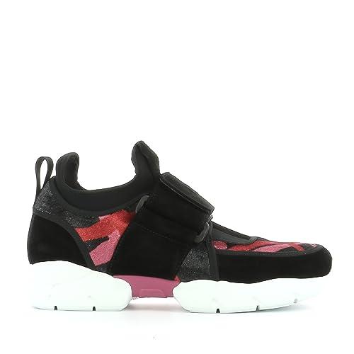 MSGM Slip On Sneakers Donna 2142Mds14503 Tessuto Nero  Amazon.it  Scarpe e  borse 375c6953f05