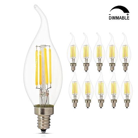 Dimmable led candelabra bulbs 4w 2700k e12 base led filament dimmable led candelabra bulbs 4w 2700k e12 base led filament chandelier light bulbs 40w equivalent aloadofball Images