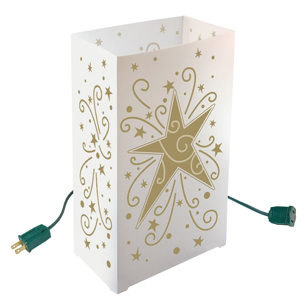 Lumabase Festive Lighting Decorative Electric Luminaria Kit Star 10 Count by Lumabase
