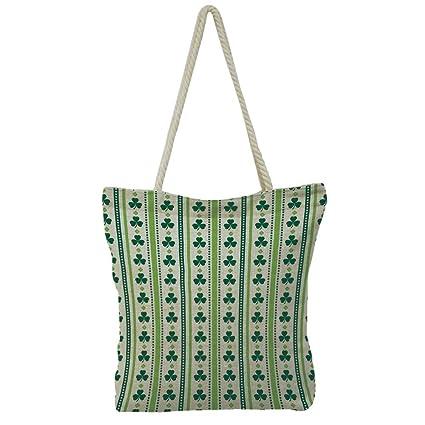 72622e539ec7 iPrint Hand Cotton and Linen Bag Shoulder Bag,Floral,Colorful Flower  Decorations Fantasy Hand