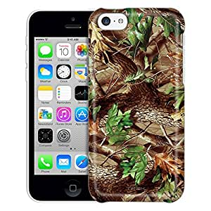 Apple iPhone 5C Case, Slim Fit Snap On Cover by Trek Real Tree Camouflage Hunter Trans Case