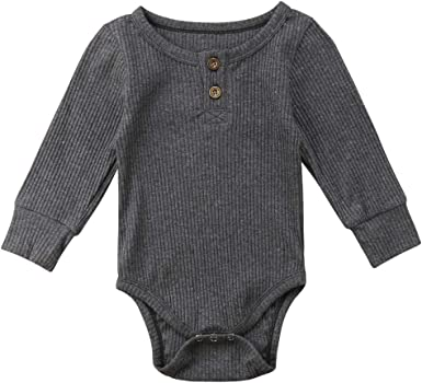 Infant Baby Girls Boys Knitted Cotton Romper Jumpsuit Bodysuit Outfits Clothes