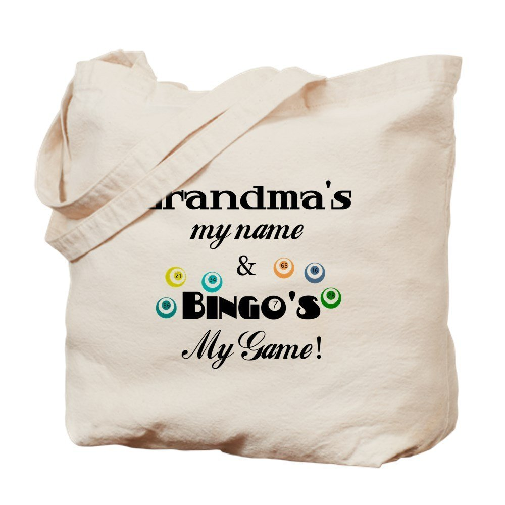 IrmaPetty Grandma And Bingo - Natural Canvas Tote Bag, Cloth Shopping Bag