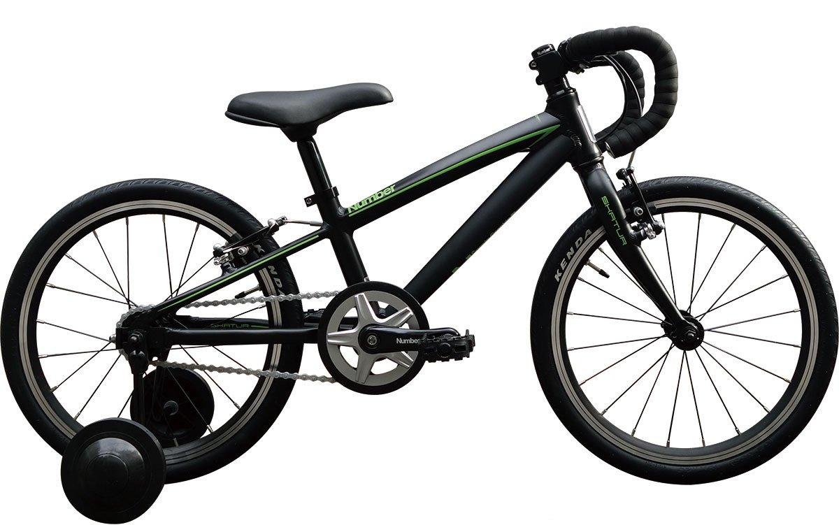 Number Bicycle(ナンバー バイシクル) SKATUR 18インチ アルミフレーム 幼児用自転車 B06XNPKYQF フラットブラック フラットブラック