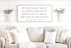 Bible Verse Wall Art   for I Know The Plans I Have for You Sign   Scripture Decor   Jeremiah 29 11   Framed Wood Sign   Scripture Wall Art 8