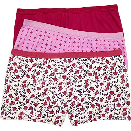 Comfort Choice Women's Plus Size 3-Pack Boyshort - Vanilla Floral Pack, ()