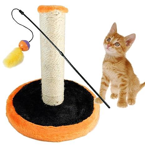 BPS® Rascador Gato Juguete para Mascotas Gatos Animales Domésticos con un Juguete Cat Stick,