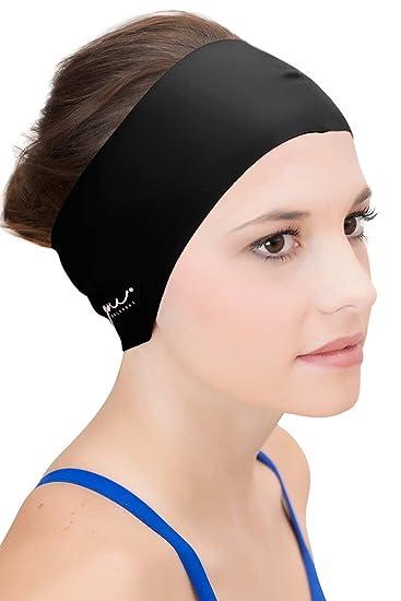 4eec4494ccd Sync Hair Guard & Ear Guard Headband - Wear Under Swimming Caps Black